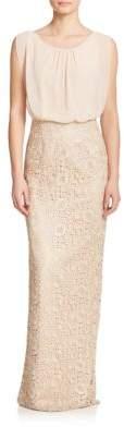 Aidan MattoxAidan Mattox Lace & Chiffon Bridesmaid Gown