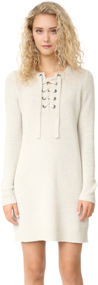 Madewell Sweater Lace Up Dress $128 thestylecure.com