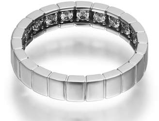 Openjart Sapphires Inside Women's Notched Wedding Ring