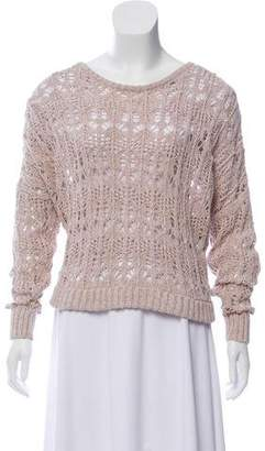 Elizabeth and James Crocheted Scoop Neck Sweater