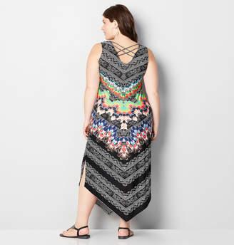 Avenue Feather Paisley Mix Print Maxi Dress