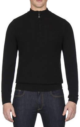 Ben Sherman Textured Funnel Neck Wool-Blend Sweater