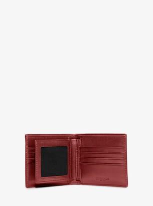 1f8e257b718256 Michael Kors Harrison Crossgrain Leather Billfold Wallet With Passcase