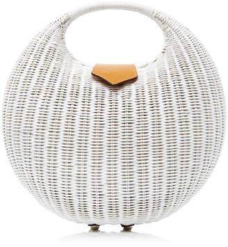 Elena Wicker Top Handle Bag