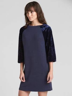 Gap Softspun Velvet Raglan T-Shirt Dress