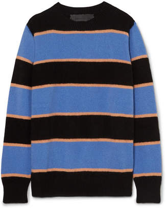 The Elder Statesman Super Stripe Cashmere Sweater - Blue