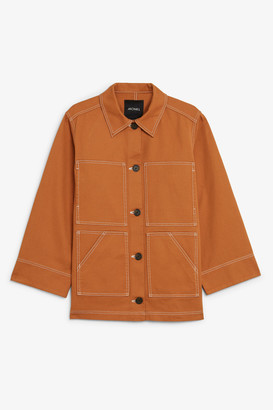 Monki Contrast stitch jacket