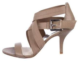 MICHAEL Michael Kors Embossed Ankle Strap Sandals