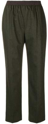 Agnona pull-on tapered trousers
