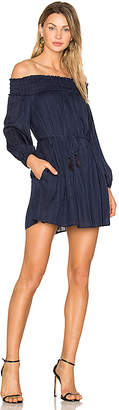 Line & Dot Desi Off the Shoulder Dress in Navy $78 thestylecure.com
