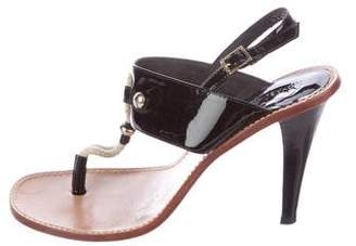 KORS Patent Leather Thong Sandals