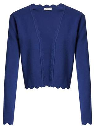Altuzarra Hughes Open Front Scallop Edged Cardigan - Womens - Blue