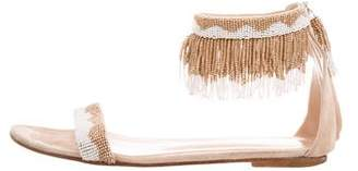 Gianvito Rossi Beaded Fringe Sandals
