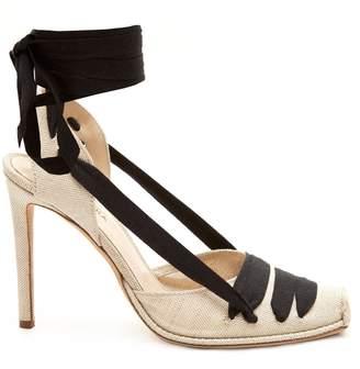 Altuzarra Wraparound-ankle linen pumps