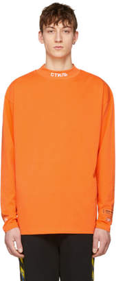 Heron Preston Orange KK Style Turtleneck