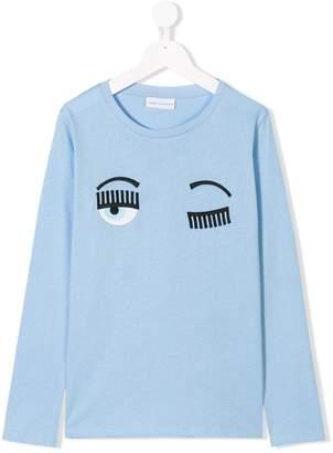 Chiara Ferragni Kids wink face sweatshirt