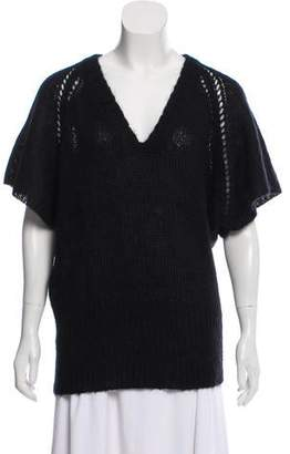 Isabel Marant Mohair-Blend Short Sleeve Sweater