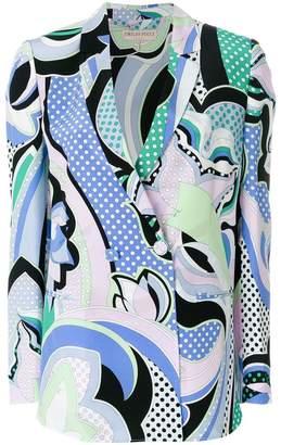 Emilio Pucci printed double-breasted blazer