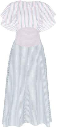 Rosie Assoulin contrasting stripes circle top dress