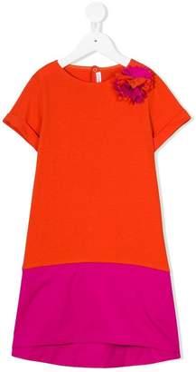 Il Gufo blockcolour shortsleeved dress