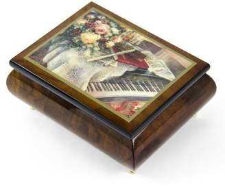 "Ercolano MusicBoxAttic Handcrafted Music Box Featuring ""Harmonic Duet"" by Lena Liu - Diamond's Are A Girls Best Friend - SWISS"
