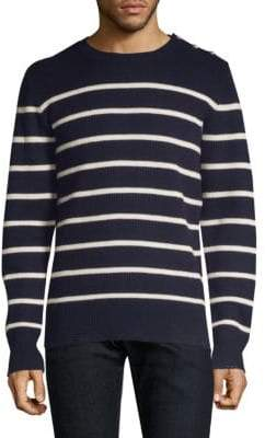 The Kooples Striped Crewneck Sweater