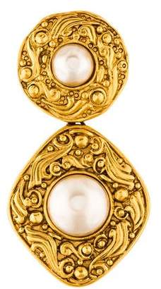 Chanel Faux Pearl Brooch