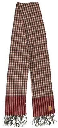 Gucci Plaid Wool Scarf w/ Tags