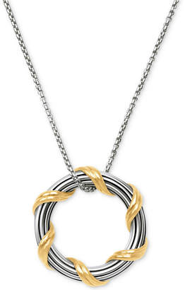 """Peter Thomas Roth Two-Tone Circle 20"""" Pendant Necklace in Sterling Silver & 18k Gold-Plate"""