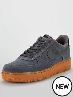 Nike Force 1 '07 LV8 Style Trainers - Grey/Gum