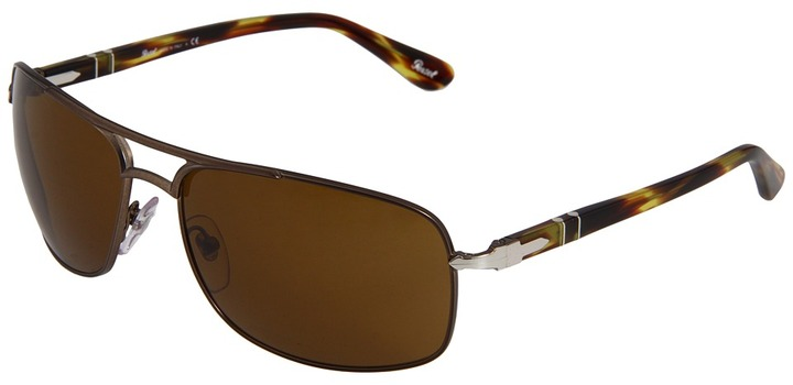 Persol PO2407S - Polarized (Matte Brown Crystal Polar Gradient Photo) - Eyewear