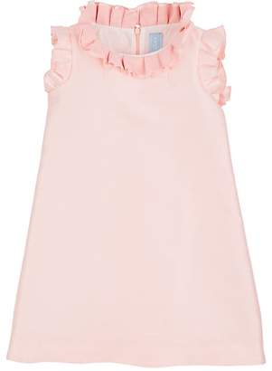 Lanvin KIDS' RUFFLE-TRIMMED GAZAR SHIFT DRESS