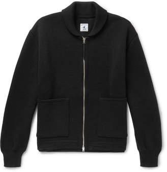 Arpenteur - Ribbed Wool Zip-Up Cardigan
