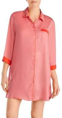 DKNY Collared Buttoned Sleepshirt