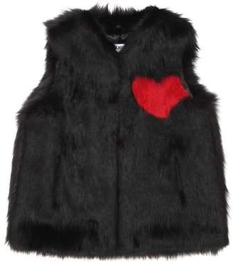 Heart Faux Fur Vest