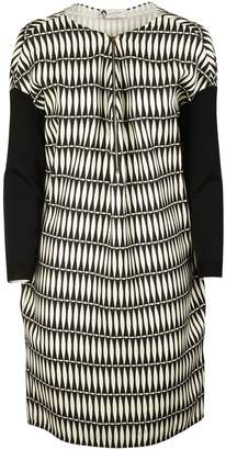 Lanvin Printed Paneled Dress