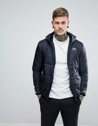 Penfield Schofield Hooded Jacket Lightweight Quilted in Black