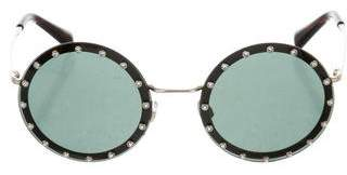 Valentino Embellished Round Sunglasses w/ Tags