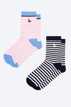 5f5d8f8566eb1 Jack Wills elbridge two pack striped ankle socks