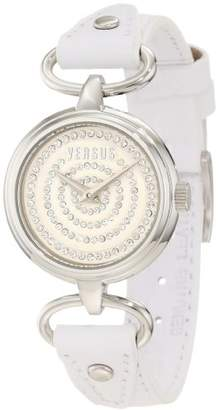 Versus By Versace Women's 'Versus V' Quartz Stainless Steel and Leather Casual Watch