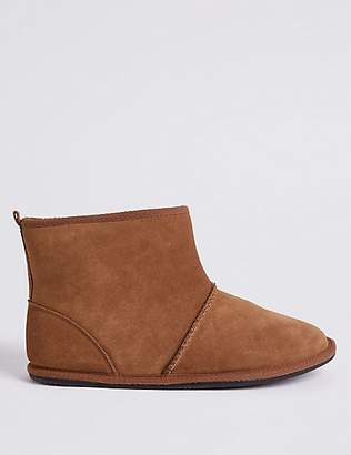M&S Collection Suede Pull-on Slipper Boots with FreshfeetTM