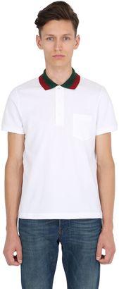 Web Collar Stretch Cotton Piqué Polo $495 thestylecure.com