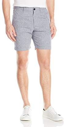 Original Penguin Men's P55 8 inch Micro Horizontal Stripe Linen Short Slim
