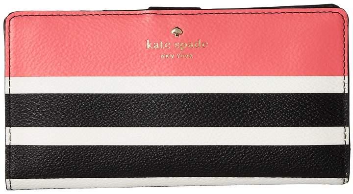 Kate Spade New York - Hyde Lane Stripe Pop Stacy Wallet