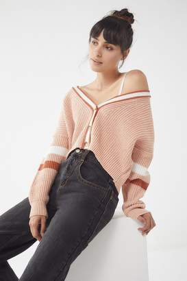 Urban Outfitters Varsity Striped Cardigan