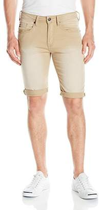 Buffalo David Bitton Men's Parker Slim Fit Fashion Knitted Denim Short in a Soft and Tinted Wash