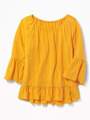 Old Navy Ruffle-Trim A-Line Top for Girls