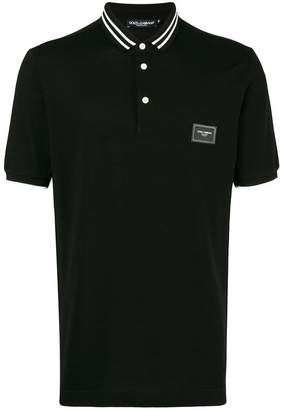 Dolce & Gabbana stripe trim polo shirt