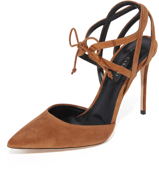 Casadei Suede Tie Front Sandals $775 thestylecure.com