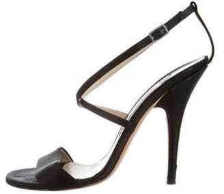 Jimmy Choo Ankle Strap Satin Sandals